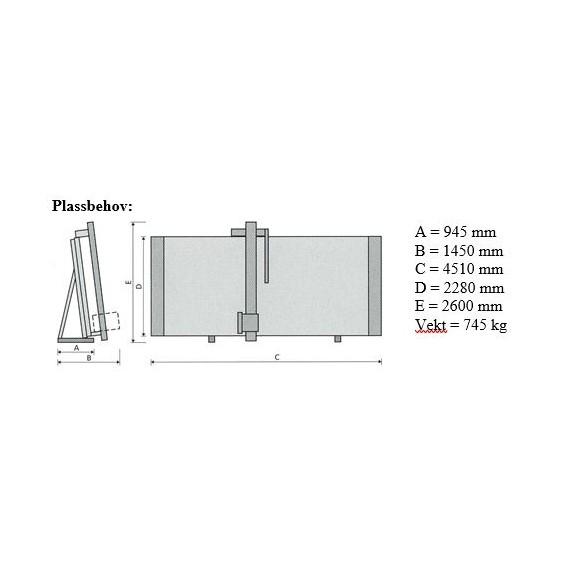 Elcon DS - 185 Vertikal platesag