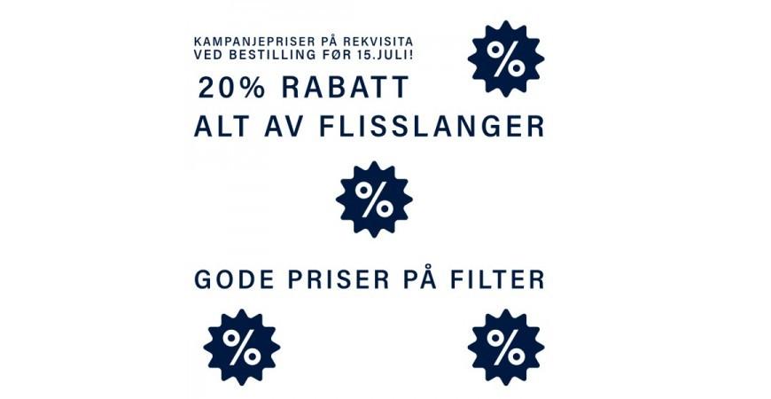 Kampanje på rekvisita og filter