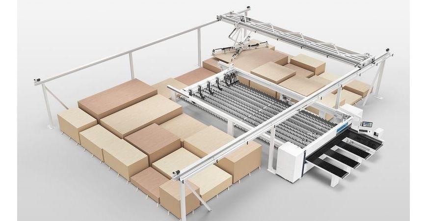 Automatisert panelsag og lagerløsning fra HOMAG